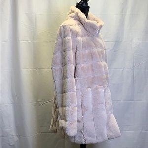 Kristen Blake Womens Faux Fur Black Jacket BNWT